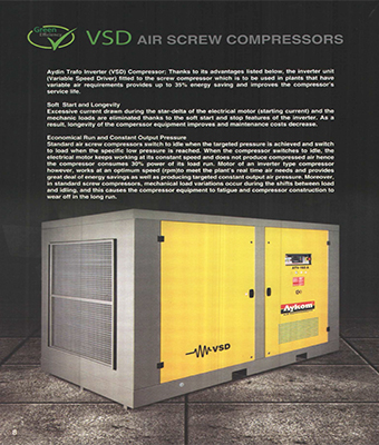 VSD AIR SCREW COMPRESSORS