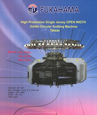 High Production Single Jersey OPEN WIDTH Jumbo Circular Knitting Machine Taiwan